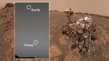 """El robot geólogo incursiona en la astronomía. (""""Earth"""" es Tierra)"""
