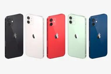 Los iPhone 12 y iPhone 12 mini se caracterizan por sus cinco opciones de color y un diseño de bordes rectos que comparte con los modelos iPhone 12 Pro