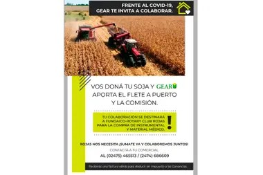 Gear donará el flete y pondrá la comisión por cada tonelada que aporten los productores