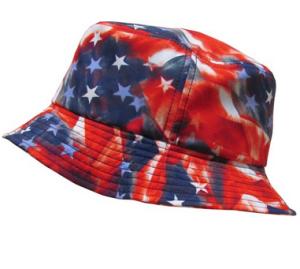 Vintage American Flag bucket hat