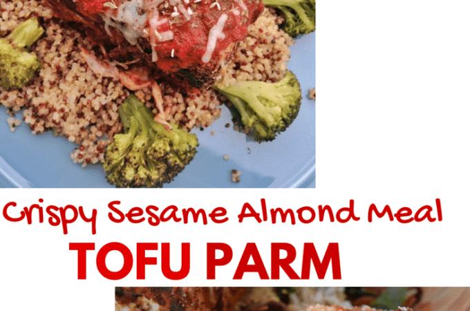 Sesame Almond Meal Tofu Parmesean