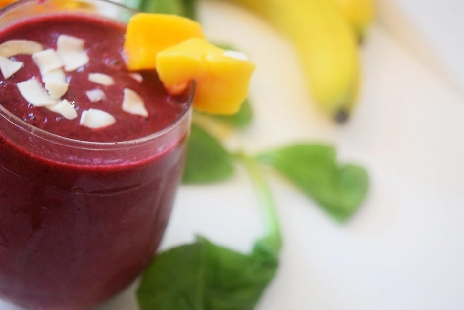 tropical beet smoothie
