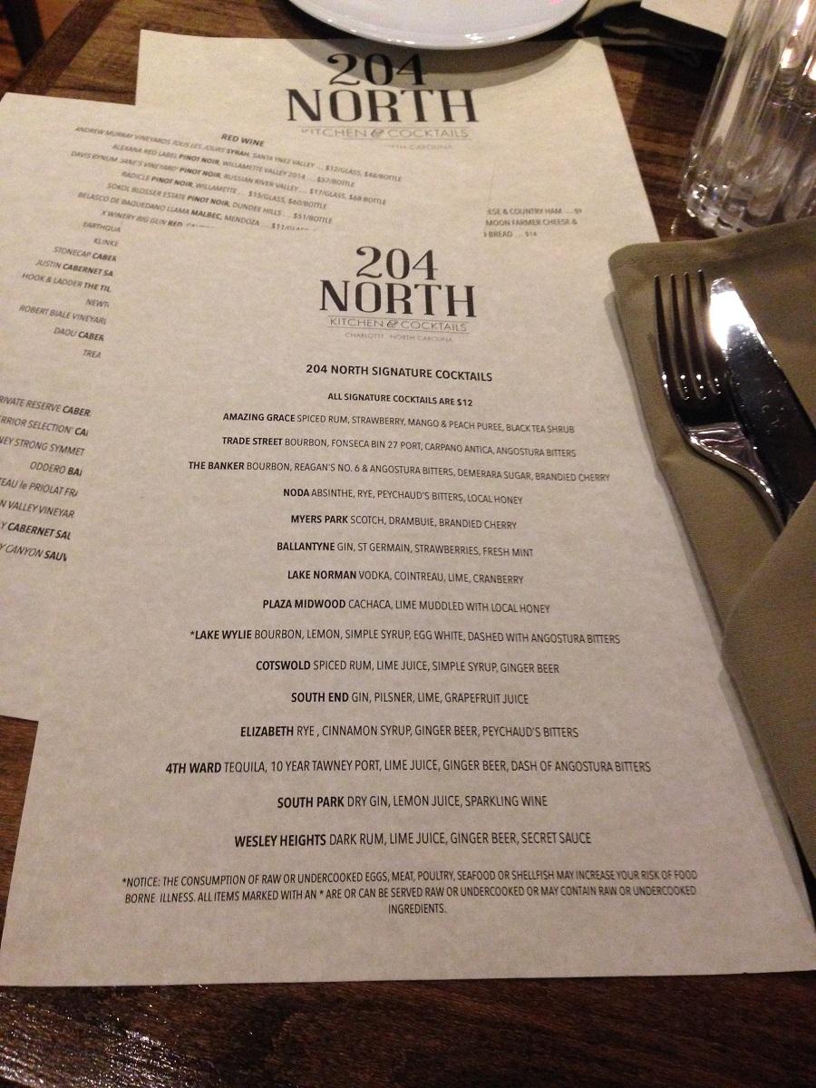 204 north cocktails