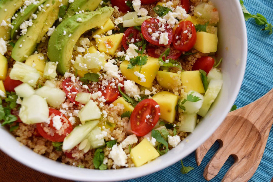 Mango Lime Quinoa Salad