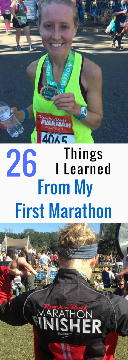First Marathon, Running, 26 miles, 26 Lessons