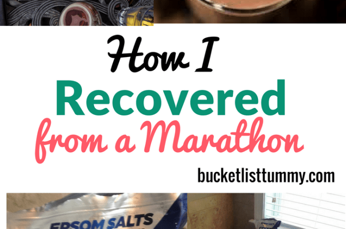 How I Recover From a Race + A GIVEAWAY!