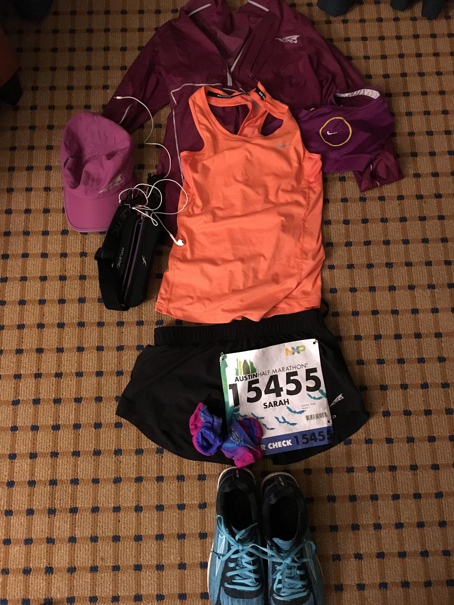 pre race Austin half Marathon