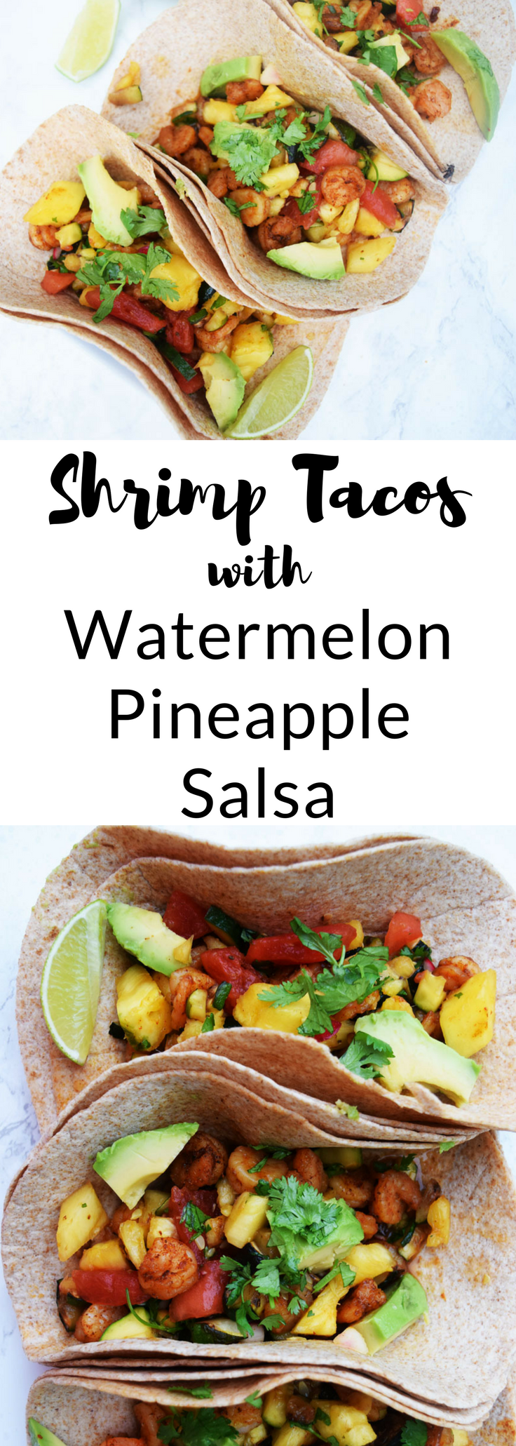 Looking for an easy, healthy dinner recipe? These Shrimp Tacos with Pineapple Salsa can be ready in under 30 minutes | Shrimp Tacos with Fruit Salsa