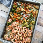 Sheet Pan Honey Ginger Shrimp and Veggies