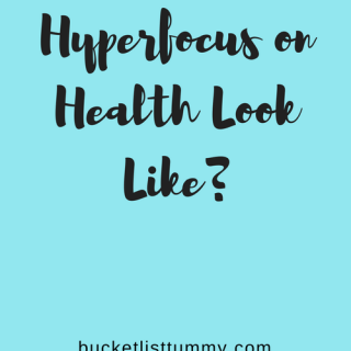 Hyperfocusing on health