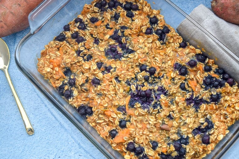 Sweet Potato Blueberry Baked Oatmeal