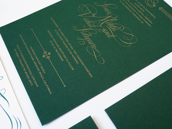 My First Custom Wedding Invitations For 2017 The Couple Wanted To Use A Really Deep Forest Green Which I Thought Was Awesome Because Appaly