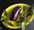 aubergine et basilique