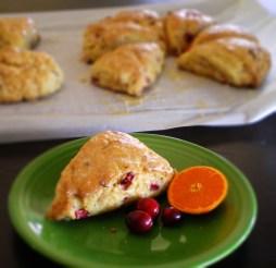 Cranberry Clementine Scones