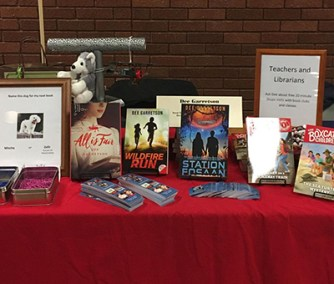 Author Dee Garretson's table