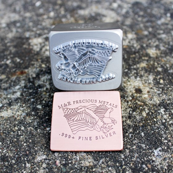M&R Precious Metals Silver Press Stamp