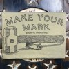 Actual printed Make Your Mark T-Shirt with Buckeye Engraving custom artwork for Steel Hand Stamps
