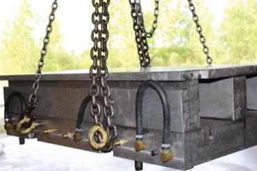 large industrial steel beem represents custom industrial engraving by Buckeye Engraving