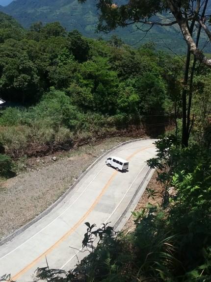 Truck parked on STEEP road going to Binangawan Falls