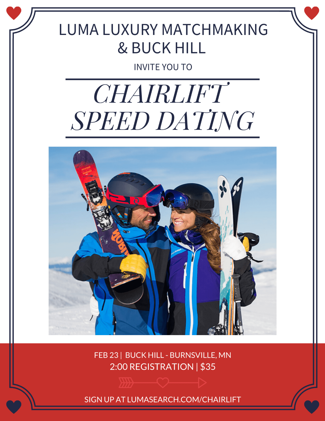 Chairlift Speed Dating Buck Hill