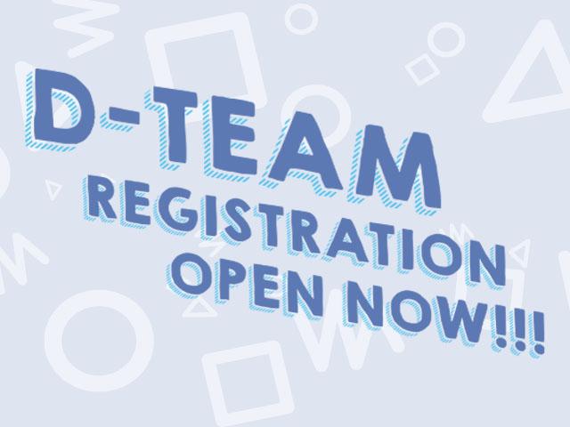 D-Team Open Landing Page Mobile