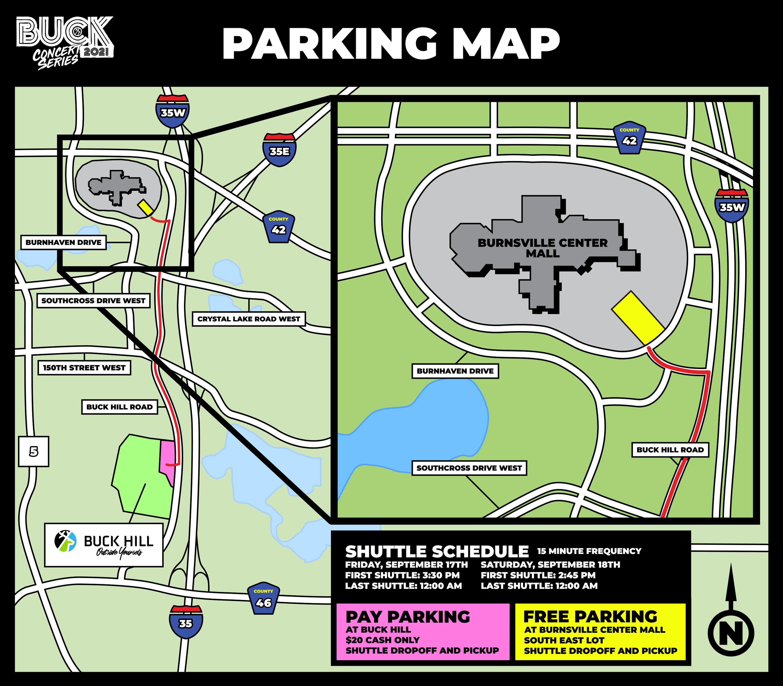 Buck Concert Series Parking Map copy