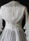 back of the bodice of Edwardian Tiered Multi - Layered Muslin Dress