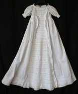 antique christening dress front panel www.buckinghamvintage.co.uk