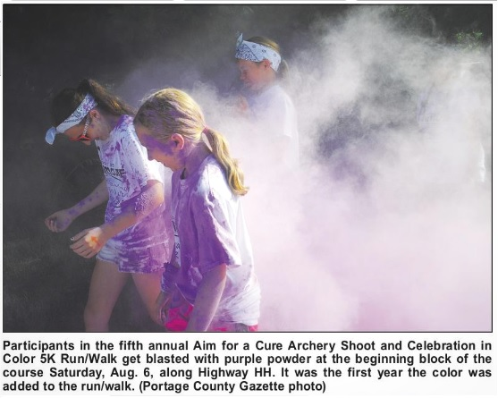 Portage County Gazette covered the Aim for a Cure Event