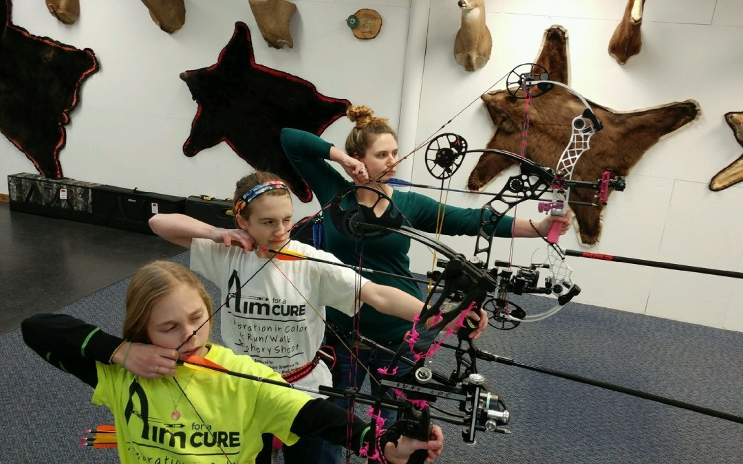 Three 2016 National Champs practicing at Bucks and Bulls Archery