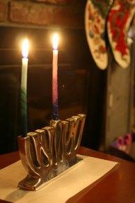 1st night of Hanukkah; photo by Flickr