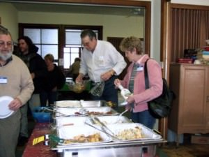 Community lunch at CUMC; photo by C. Yeske