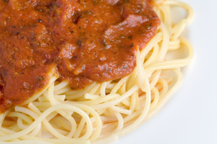 Spaghetti and Tomato Sauce, iStock