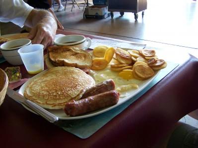 Firehouse breakfast; photo Lynne Goldman