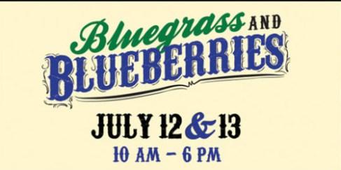 bluegrass and blueberries peddler's village_logo