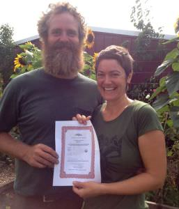 Tom & Tricia_organic certification_blooming glen farm