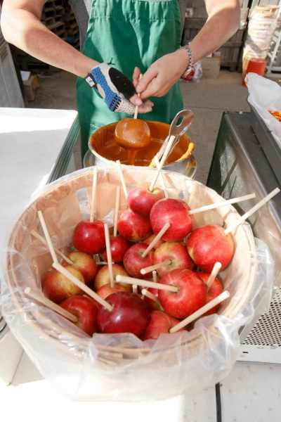 Caramel Apples at Terhune Orchards