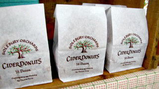 Cider donuts from Solebury Orchards