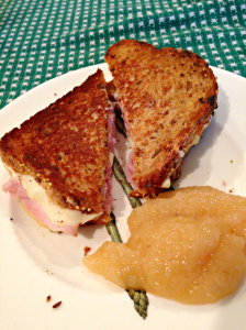 Susan's grilled cheese & ham sandwiches