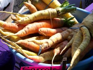 Local carrots; photo by L. Goldman