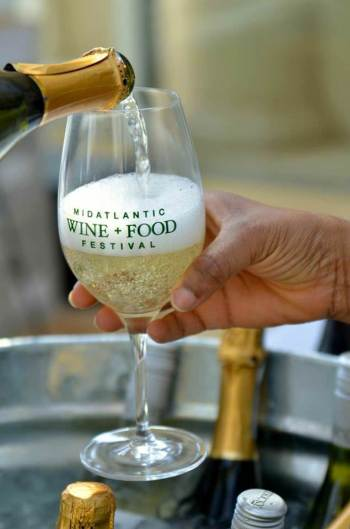 Mid Atlantic Food & Wine Festival_sparkling wine glass