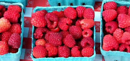Raspberries; photo credit L. Goldman