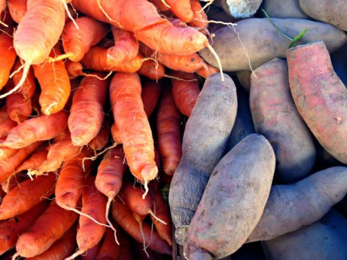 Carrots and sweet potatoes; photo credit Lynne Goldman