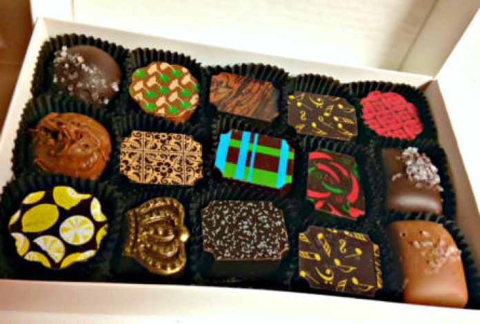 Pierre's artisanal small batch chocolates; photo L Goldman