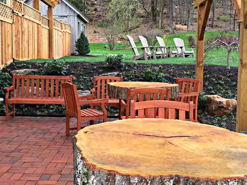 Pergola Patio at the Lumberville General Store