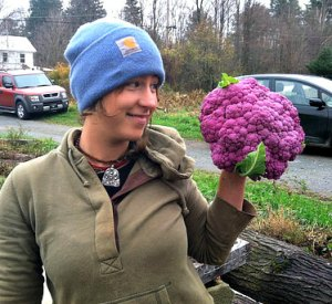 Malaika Spencer_Roots to River Farm_purple cauliflower