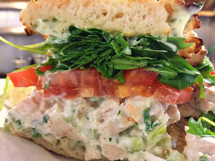Chicken Salad Sandwich at Cross Keys Diner; photo by Lynne Goldman