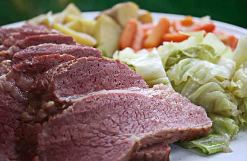 Corned beef and cabbage meal; Bucks County food events