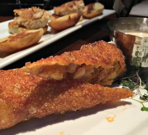 Buffalo Chicken eggroll; photo Lynne Goldman