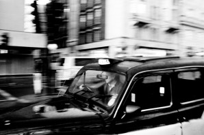 black and white london